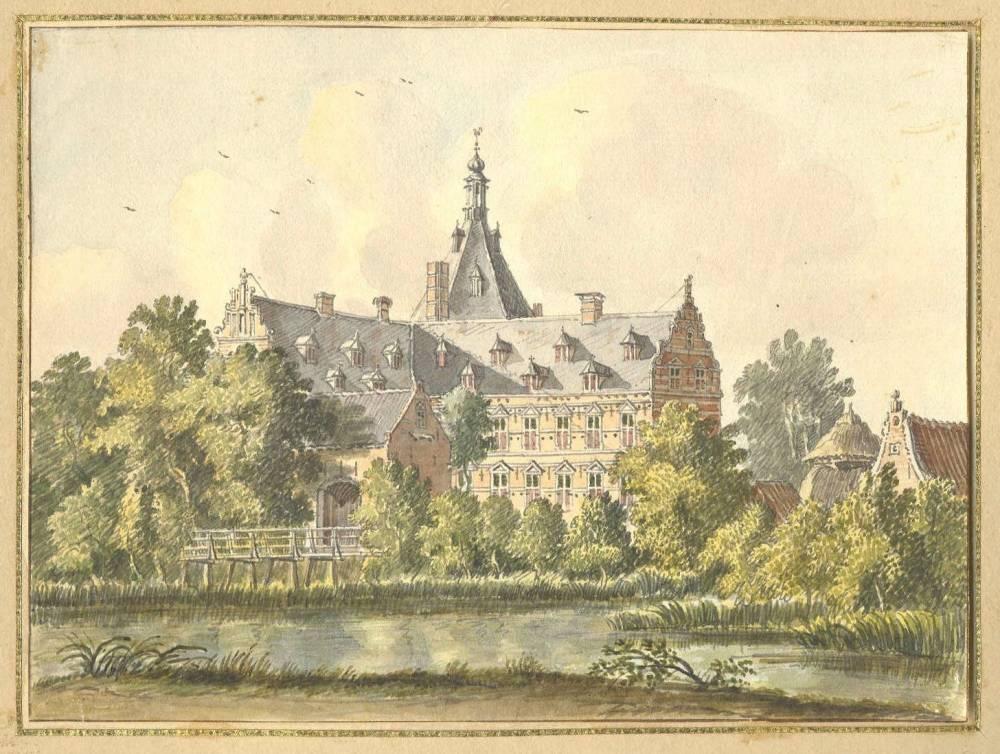 Wolfswaard in Beesd. Tekening Jan de Beijer, 1750